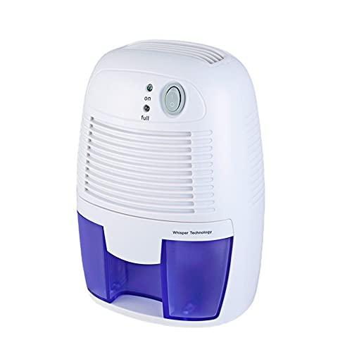 Mini deumidificatore elettrico, deumidificatore d'aria portatile compatto da 500 ml, con funzione di spegnimento automatico e ultra silenzioso, adatto per casa, cucina, camera da letto, camper, uffi