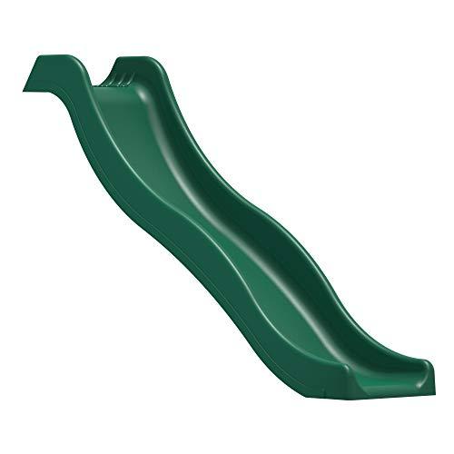 Rebo Universal Children's Plastic Garden Wave Slides - 6ft Dark Green Slide