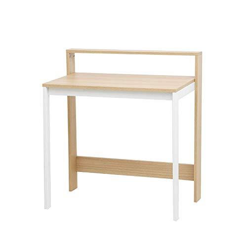 Höhenverstellbare Stehpult Vintage Metall und Holz Schreibtisch 2-Tier Platzsparend Computer-Schreibtisch for Heim und Büro Schnell Sit Schreibtisch Riser Ständer