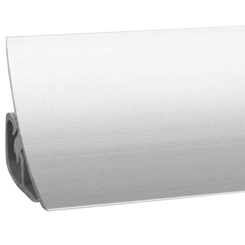 HOLZBRINK Küchenabschlussleiste Vollaluminium Küchenleiste Aluminium Wandabschlussleiste Arbeitsplatten 23x23mm 150 cm
