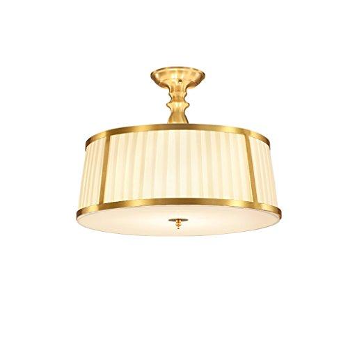 Vast Romantische semi-hanglamp, 4-draads ronde koperen led-plafondlampen, vochtige ruimtes lamp voor balkon 318