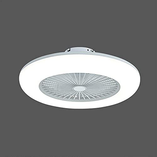 LJKD Ventilador de Techo con Luces y Control Remoto, Luces de Techo contemporáneas Regulables 80W, luz de Ventilador para Sala de Estar, Dormitorio,Blanco