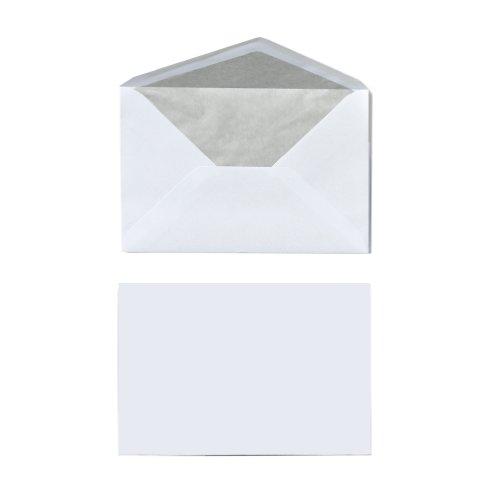 Herlitz Briefumschlag C6 Seidenfutter Nassklebend, 25 Stück in Folienpackung, eingeschweißt, weiß