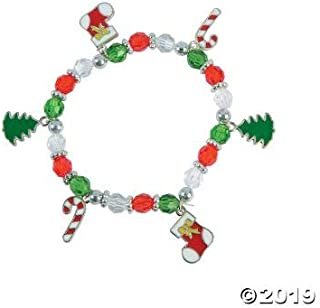 Christmas Beaded Charm Bracelet Craft Kit -12 - Crafts for Kids and Fun Home Activities