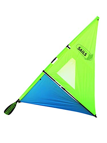 Vela para paddle board (verde fluorescente/azul)