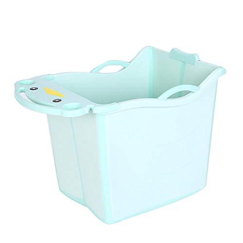 WENHUI Infantil Bañera De Bebé Piscina Plegable Bañera Hogar De Niños De Baño Adaptado para Niños De 1-6 Blue