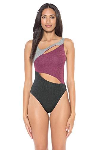 Soluna Women's Moondust Ribbed Asymmetrical One Piece Swimsuit Multi M