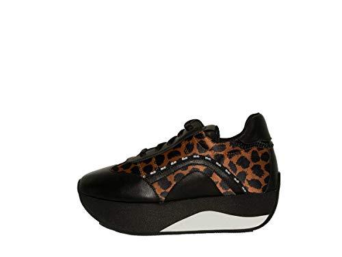 Scarpe Donna Liu-Jo Sneaker Zeppa TC 55 MOD. Hilary Nero/Leopardo D20LJ05