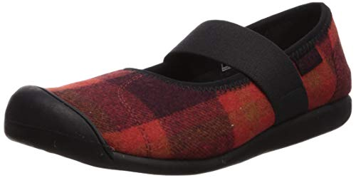 KEEN Women's SIENNA MJ PLAID Shoe, Red/Black, 8 M US