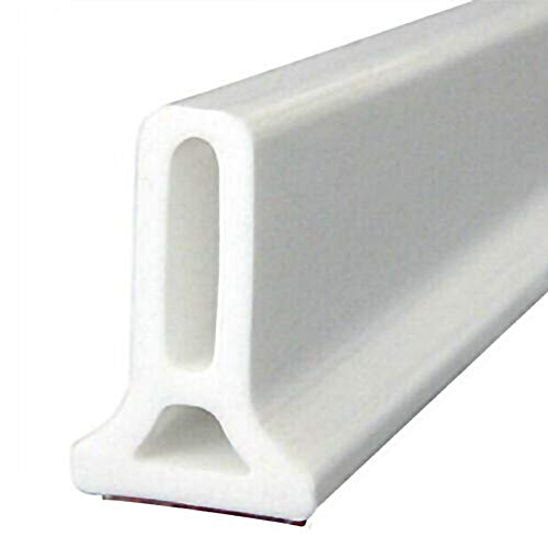 Glomixs Flexible Silicone Water Stopper Strips, Shower Barrier and Retention System and Keeps Water Inside Threshold Door Seal Retainer Retention System Floor Water Barriers for Kitchen Bathroom
