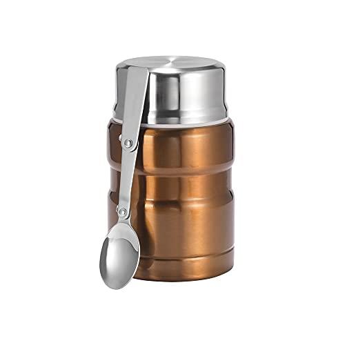 MISS Z Caja de Almuerzo de Aislamiento de Acero Inoxidable para Alimentos Calientes con recipientes 500 ml matraces de vacío Taza Termo termocup Plata