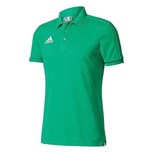 adidas Kinder Tiro 17 Cotton Polo Youth Poloshirt, Green/Black/White, 116