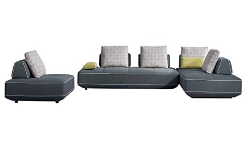 BlackBerry Convertible Sectional Sofa & Chair in Dark Slate Gray