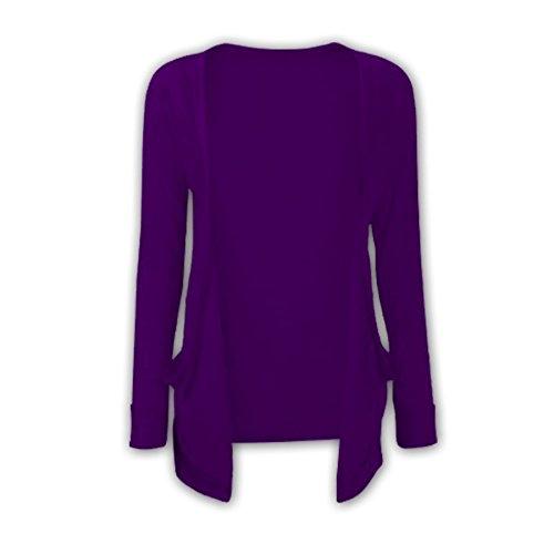 Strickjacke, für Mädchen, Boyfriend-Cardgan, einfarbig, offen, lange Ärmal, modisch, Oberteil, Alter 2 - 13 Gr. 3-4 Jahre, violett