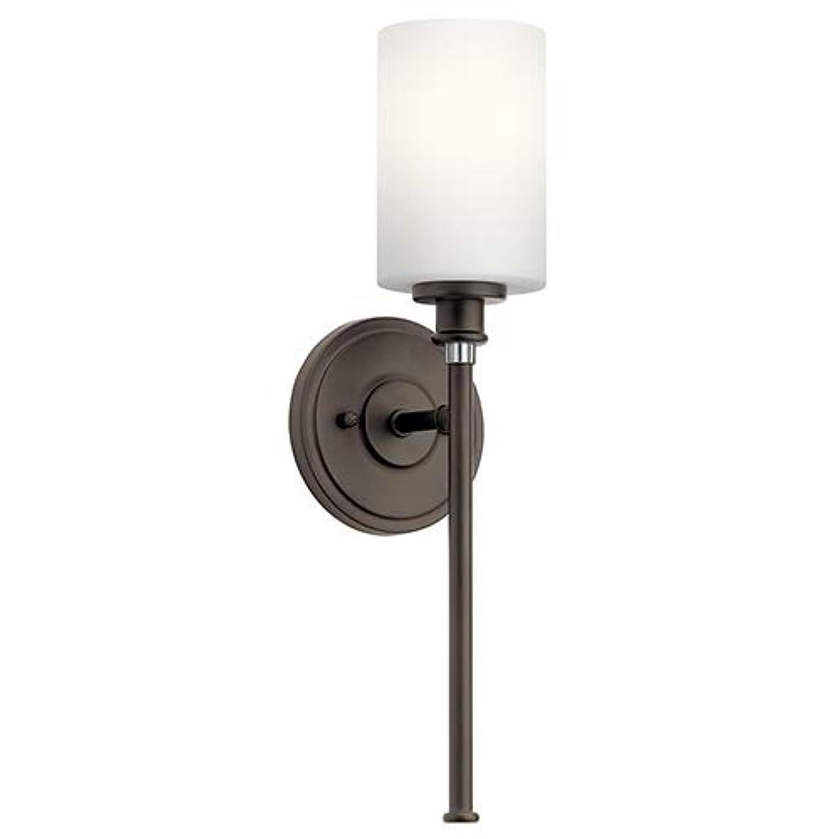 利点希望に満ちたタヒチKichler 45921OZL18 Joelson 壁取り付け用燭台、1ライト LED 10ワット、オールドブロンズ