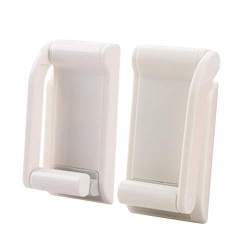Suporte magnético para toalha BESTOMZ para rolo de papel higiênico de plástico para armazenamento doméstico