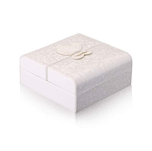 Joyero de almacenamiento, folio magnético cuadro de exhibición de la joyería de cuero de la PU, gerente de la joyería, que se utiliza for almacenar los anillos, pendientes, collares, pulseras, relojes