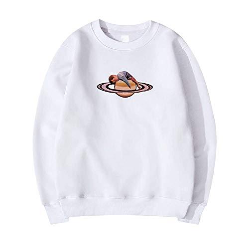 MUJOELE Space Galaxy - Sudadera para hombre, diseño de astronauta Planet Boy-white XXL