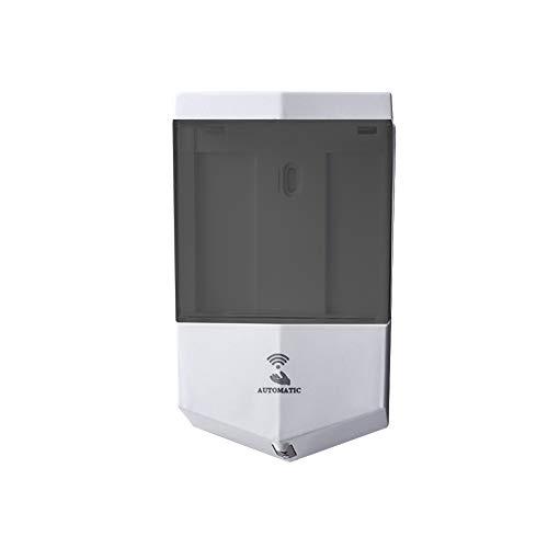 Liuxiao Automatische zeepdispenser met infraroodsensor, 650 ml, grote inhoud, voor kantoor, hotel, thuis, badkamershampoo, voor wandmontage Wit Grijs