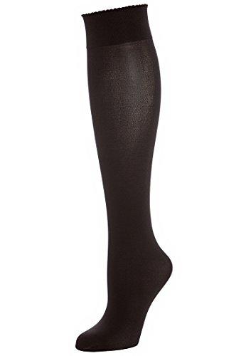 Wolford Velvet de Luxe 50 Knee-Highs - Mujer nearly black, M