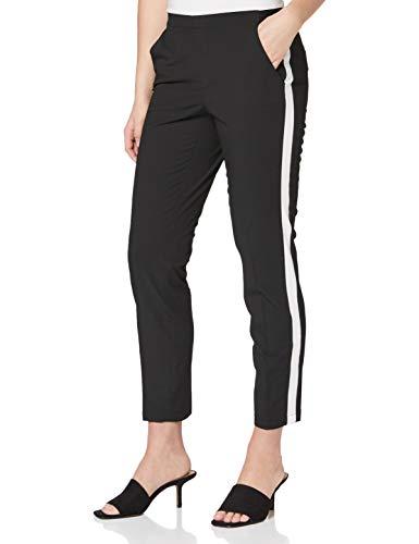 OPUS Damen Edira solid Stripe Hose, Schwarz (Black 900), 40W / 32L