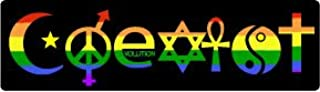 Bumper Planet - Bumper Sticker - Coexist Rainbow - 3 x 10 inch - Vinyl Decal Professionally Made in USA