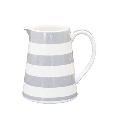 Krasilnikoff Milchkännchen CR190 Sahnekännchen Kanne Porzellan Creamer Happy Star Streifen pink Stripes Grey MIlchkanne