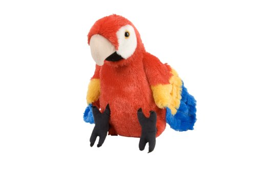 Wild Republic Scarlet Macaw Plush, Stuffed Animal, Plush Toy, Gifts for Kids, Cuddlekins 12 Inches