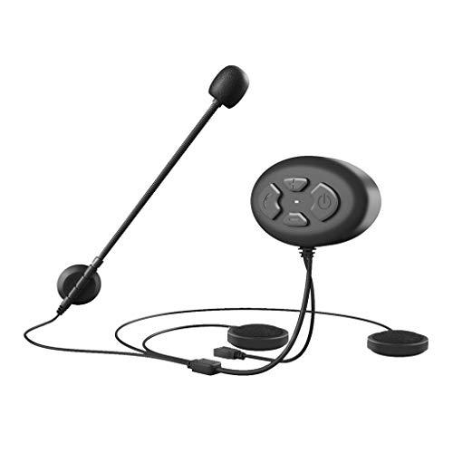 TISHITA DK12 Auriculares Inalámbricos Bluetooth 5.0 con Intercomunicador para Casco de Motocicleta