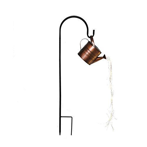 Lámparas de ducha con diseño de estrella, luz de jardín, luces de hadas para exteriores, alambre de cobre, decoración de hadas, lámpara de césped solar para pasarela, patio, césped (sin soporte)