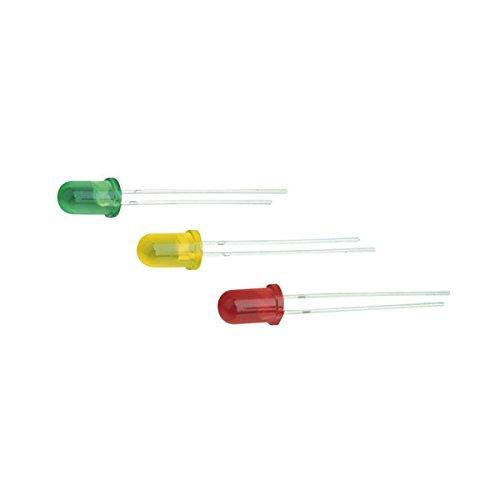Pak met 100 stuks LED 5 mm en 12 V geel Electro DH 12.675/5/12/A 8430552059942