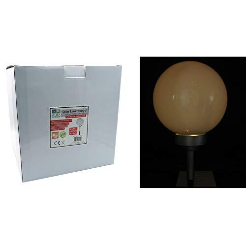 Lampe solaire sphérique avec télécommande pour balcon Ø 25 cm SMD