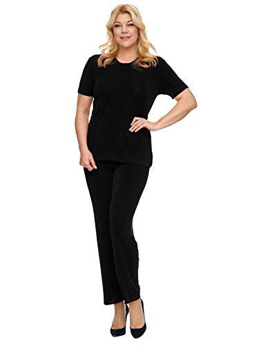 Magna - Basic Edle Damen Slinky Stretch Hose Perfekt Zum Kombinieren Farbe schwarz, Grš§e 52/54