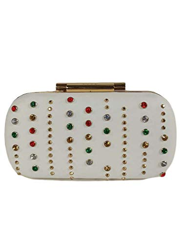 BORSA LIU JO CLUTCH MINAUDIERE WHITE PERLE COLORATE A32/53