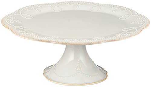 Lenox French Perle Pedestal Cake Plate, Medium, White -