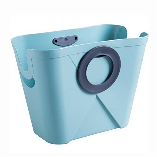 LALAWO Shounalan Portable hamper dirty clothes storage basket toy storage bucket plastic storage basket wasmand wasmand mand