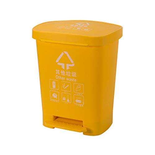 LLKK Botes de Basura de saneamiento,Botes de Basura de plástico para Exteriores,contenedores de Basura de plástico Cuadrados de clasificación de Basura,Conveniente,Ahorra Tiempo y Esfuerzo.