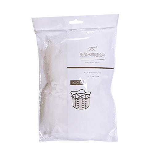 rongweiwang 30pcs / 100pcs Filterbeutel-Wannen-Sieb Müllbeutel Netz-Ineinander greifen Filternetz Küchen Anti Clogging Supplies