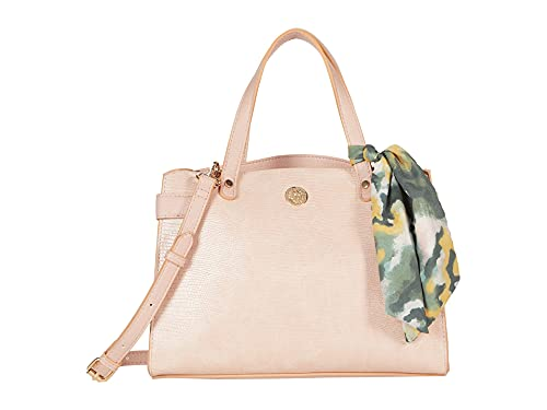 Anne Klein Bonded Curved Satchel Pink One Size
