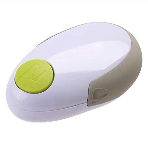 Ouvre-boîte électrique,L'ouvre-boîte électrique, L'ouvre-boîte Automatique de à l'Interrupteur Automatique à Une Touche,la Batterie Powered,Le Choix pour Les Chefs,Blanc