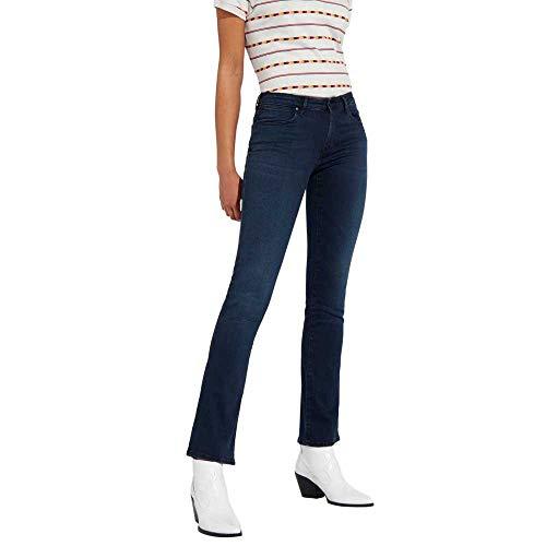Wrangler Jeans Bootcut, Blu Soft Worn, 24W / 32L Donna