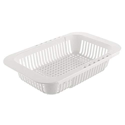 Liyanjin Küchenaufbewahrung, erweiterbarer Abflusskorb für Küchenspüle, zum Trocknen von Obst und Gemüse, 19,8 x 18,3 x 6,5 cm #3