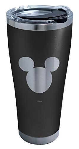 Tervis Mickey Silhouette Engraved on Black Vaso aislado, Acero Inoxidable, metalizado