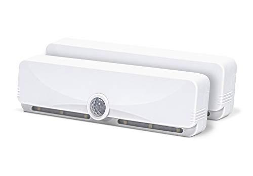 Sensor Brite Slim Beam Wireless Motion Sensor LED Light, Closet/Cabinet Light, Wall Light, No Tools Installation, Attach Anywhere, Battery-Operated Night Light (2 Pack)