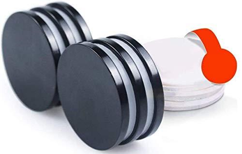 Imanes Neodimio,Imán de Neodimio,Imanes fuertes adhesivos con cinta adhesiva de 3M, Para la cocina, Experimentos científicos,diseño de DIY, oficina (30x3mm 6pc)