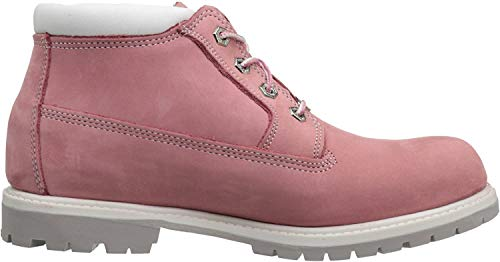 Timberland Women's Nellie Double Waterproof Ankle Boot,Pink,7.5 W US