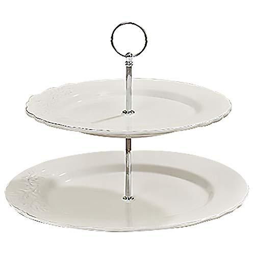 Boltze Présentoir à gâteaux 'Olive' Blanc 30 cm