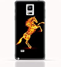 Samsung Galaxy Note Edge N9150 TPU Silicone Case with Horse on Flame Design