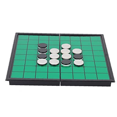 Uayasily Magnetische Tragbare Falten Othello Spiel Reversi Othello Strategie-brettspiel, Grün