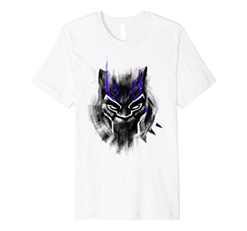Marvel Black Panther Watercolor Head Shot Premium T-Shirt